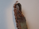 TOURMALINE SMOKEY QUARTZ COPPER WIRE WRAP PENDANT