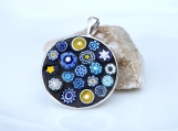 ON SALE: Round Mosaic Pendants with Italian Millefiori Tiles