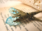 Les Larmes D'Amant Aqua Blue Crystal Earrings
