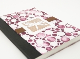 Small Altered Notebook Dragonfly Dots Purple