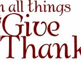 Wall Decal - In all things give thanks