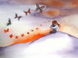 Feel My Love - Watercolor Print 8 x 10
