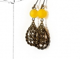 Beautiful Yellow Agate Earrings