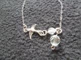 Sterling Silver Bracelet with Tibetan Silver Swallow