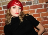 "Woman's Retro ""Red Heart"" Headband for Valentine's Day"