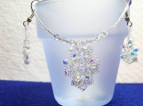 Crystal Pendant Choker & Earrings Set