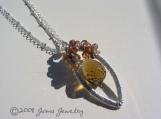 JUMA Jewelry - Eliza II Necklace in Tundra Sapphires and Whiskey Quartz