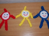 Topknot Spiral Doll Primary Colors Set