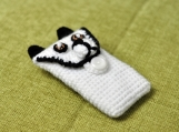 Hand Crochet Panda iPhone Sleeve iPod Case handmade iphone