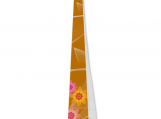 Elegant Butterscotch and Pink Daisies Designer Necktie, Tie