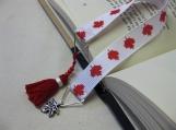 Maple Leaf Ribbon Bookmark