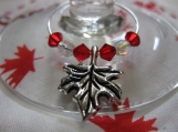Maple Leaf Wine Glass Rings