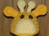 Newborn - Hand Crocheted Baby Giraffe Hat
