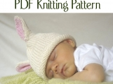 Boston Beanies Knit Baby Bunny Hat pattern