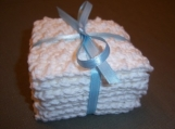Set of Seven Exfoliating Facial Scrubbie Cloths