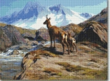 Chamois Mother And Baby Cross Stitch Pattern