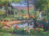 Fountain In The Park Marquayrol Cross Stitch Pattern