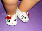 Hello Kitty Baby Booties Crochet Pattern