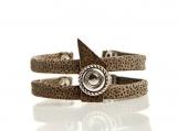 Printed suede bracelet
