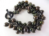Forest green cha cha beaded bracelet