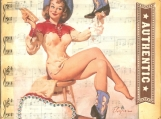 Boots & Chaps Pinup Beeswax Collage on Canvas