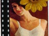Exquisite Woman in Vintage Lingerie ACEO Collage