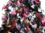 Extra long warm scarf in burgundy/black/gray/white