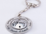 Personalized Double Sided Keychain