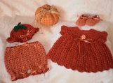 My Little Pumpkin 4 piece Dress Set