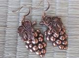 Earrings-Copper Grape cluster