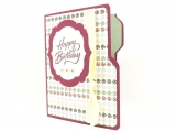 File Folder Birthday Card Gift Card Holder purple