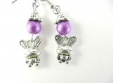 Lavender bunny earrings