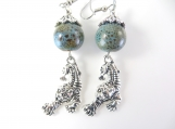 Silver tiger earrings