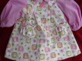 Softy Owls Pocket Bunny Dress size 2