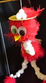 The Red Birdie String Marionette/Puppet