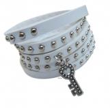 leather wrap bracelet with silver LOVE friendship bracelet