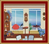 Cat In The House Cross Stitch Pattern