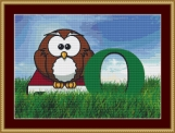 O Is For Owl Cross Stitch Pattern