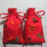 "Memorial Day Poppies 3""X2"" Sachet-'Apple Red Orchard'Scent-137"