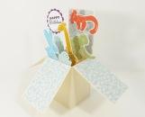 Birthday Balloon Animal Pop Up Box Card