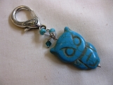 Silver and Turquoise Owl Handbag Accessory