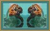 Twin Tigers Cross Stitch Pattern