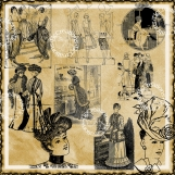 Vintage Fashions 20 Piece Image Set