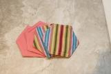Bold Stripe Fabric Decorative Coasters