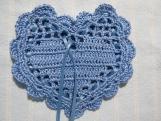 """Blue 4""""X4"""" Heart Sachet-'Baby Clean' Fragrance-Cindy's Loft-809"""
