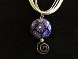 Blue Circular Murano Bead
