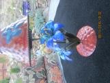 Hand Painted Metal Tea Lamp 10 x 5