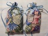"""Blue 4""""X2"""" Sachet-'Classic Lavender' Scent-Flower Fairies-050"""