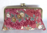 Red/Gold Floral Clutch