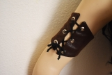 Desert Warrior Faux Leather Arm Band - Brown